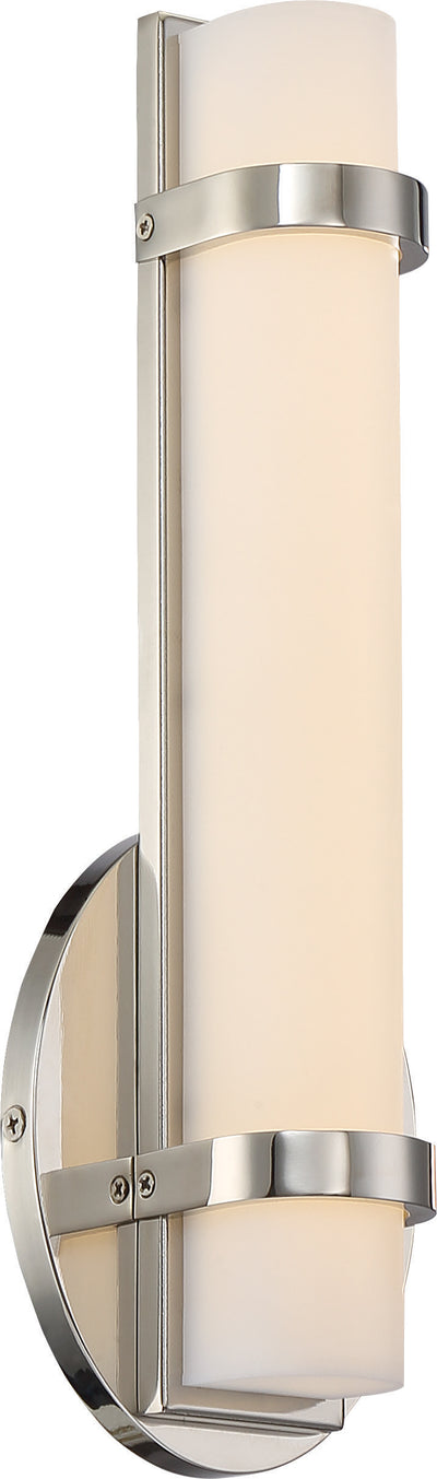 Nuvo Lighting 62/931 Slice Single LED Wall Mount Sconce Sconce Polished Nickel Finish