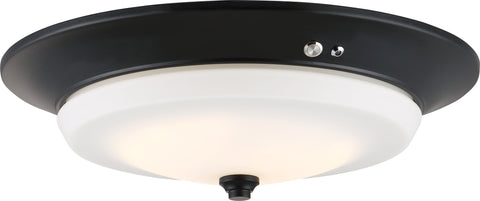 Nuvo Lighting 62/972 LED Emergency Lighting Flush Fixture Aged Bronze Finish Battery Backup Ready