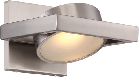Nuvo Lighting 62/994 Hawk LED Pivoting Head Wall Mount Sconce Sconce Brushed Nickel Finish Lamp Included