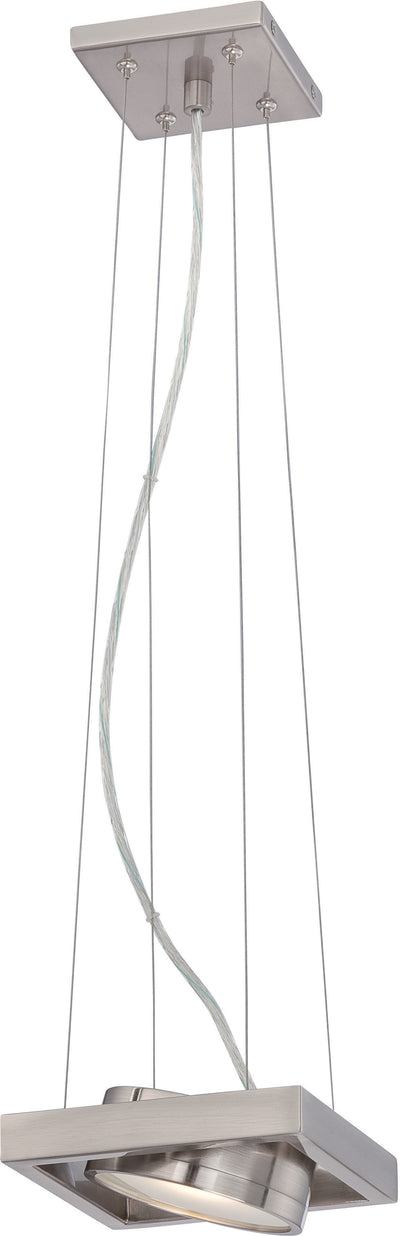 Nuvo Lighting 62/997 Hawk LED Pivoting Head Pendant Textured Brushed Nickel Finish Lamp Included