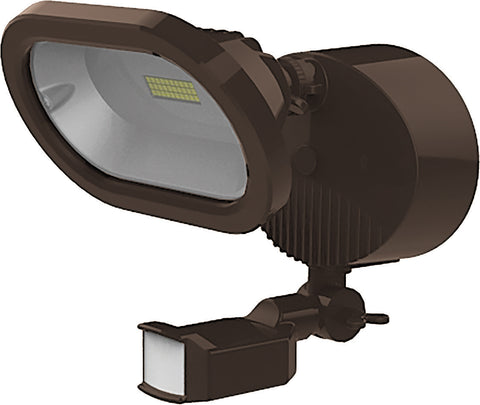 Nuvo Lighting 65/092 LED Security Light Single Head Motion Sensor Included Bronze Finish 4000K 1200 Lumens