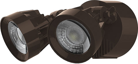 Nuvo Lighting 65/093 LED Security Light Dual Head Bronze Finish 4000K 2000 Lumens