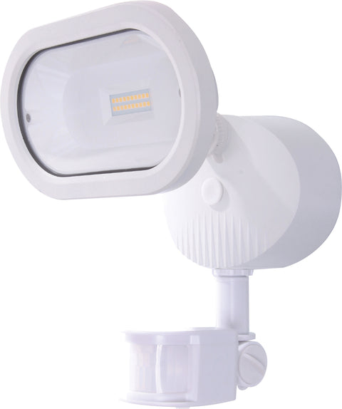 Nuvo Lighting 65/106 LED Security Light Single Head Motion Sensor Included White Finish 4000K 1200 Lumens