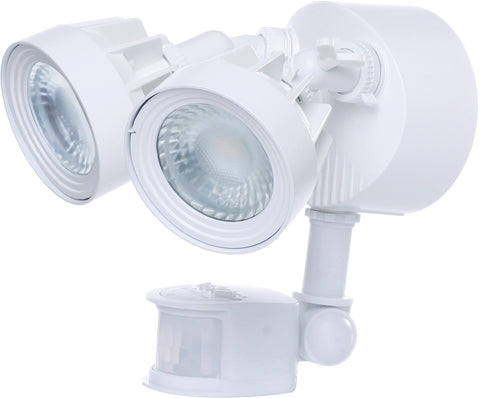 Nuvo Lighting 65/108 LED Security Light Dual Head Motion Sensor Included White Finish 4000K 2000 Lumens
