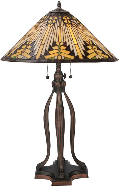 "Meyda Lighting 66226 31""H NUEVO Mission Table Lamp"