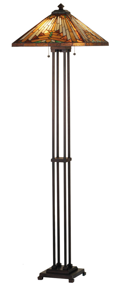 "Meyda Lighting 66228 63""H NUEVO Mission Floor Lamp"