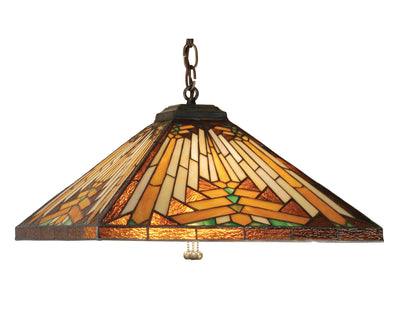 "Meyda Lighting 66229 17""Sq NUEVO Mission Pendant"
