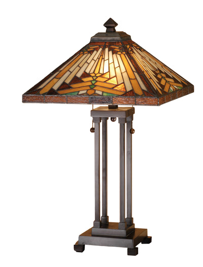 "Meyda Lighting 66230 24.5"" H Nuevo Mission Table Lamp"