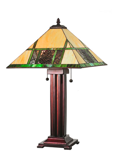 "Meyda Lighting 67851 24""H Pinecone Ridge Table Lamp"