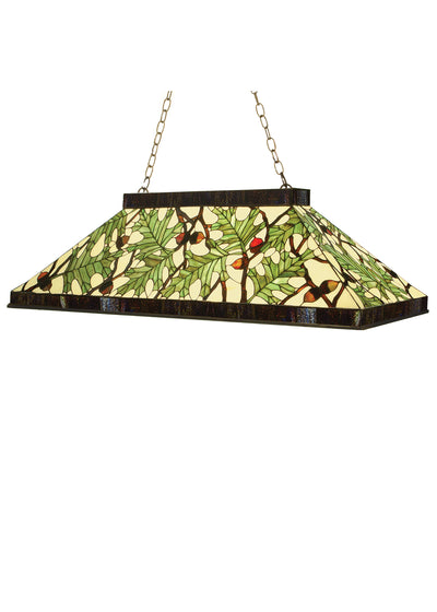 "Meyda Lighting 69924 29""L Acorn & Oak Leaf Oblong Pendant"