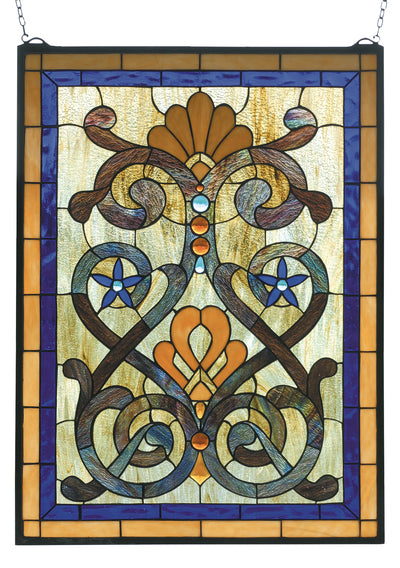"Meyda Lighting 77999 20""W X 27""H Mandolin Stained Glass Window"