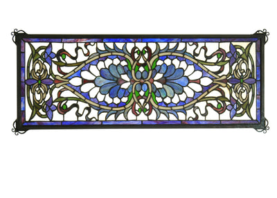 "Meyda Lighting 78104 29""W X 11""H Antoinette Transom Stained Glass Window"