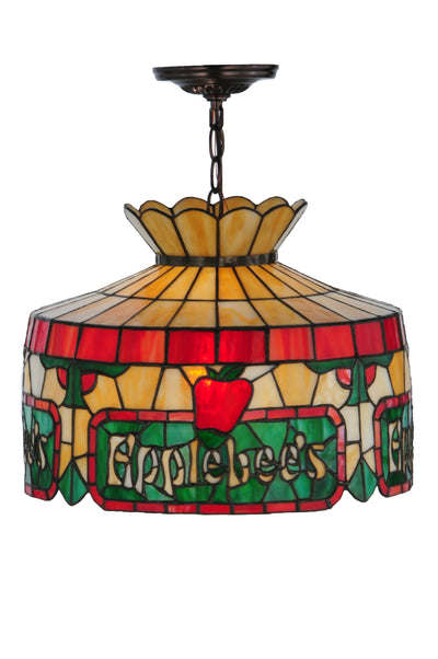"Meyda Lighting 79763 16""W Personalized Applebee's Pendant"