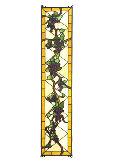 "Meyda Lighting 79792 8""W X 36""H Jeweled Grape Stained Glass Window"