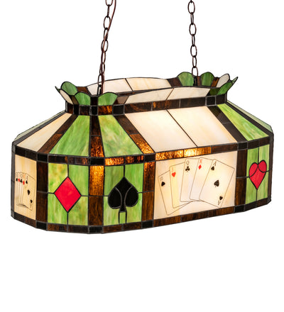"Meyda Lighting 81487 33"" Long Texas Hold'em Oblong Pendant"