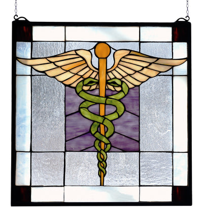 "Meyda Lighting 81519 18""W X 18""H Medical Stained Glass Window"