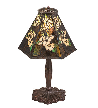 "Meyda Lighting 81619 19"" High Oriental Peony Accent Lamp"