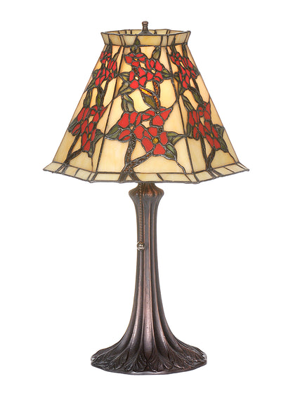"Meyda Lighting 81620 19""H Oriental Peony Accent Lamp"
