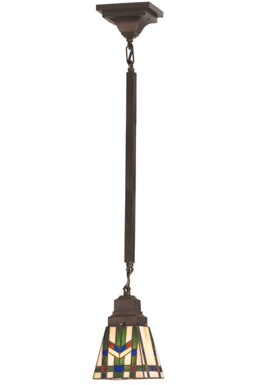 "Meyda Lighting 82481 5""Sq Prairie Wheat Mini Pendant"