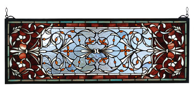 "Meyda Lighting 98059 28""W X 10""H Versaille Transom Stained Glass Window"