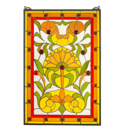 "Meyda Lighting 98229 20""W X 30""H Picadilly Stained Glass Window"
