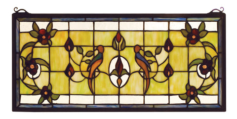 "Meyda Lighting 98451 22""W X 10""H Lancaster Stained Glass Window"