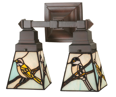 "Meyda Lighting 98519 12""W Backyard Friends 2 LT Wall Sconce"