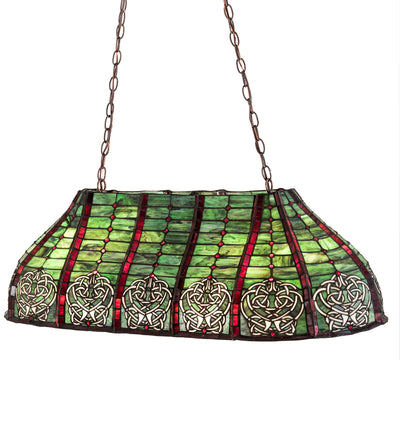 "Meyda Lighting 98639 40""L Dublin Oblong Pendant"