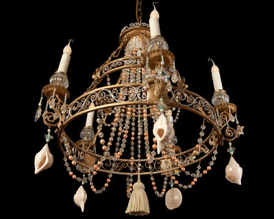Vintage tiered beach front chandelier by The Ozone Collection