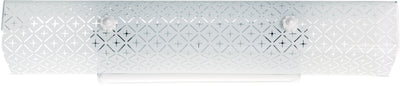 "Nuvo Lighting SF76/277 4 Light 24"" Vanity with Diamond ""U"" Channel Glass"