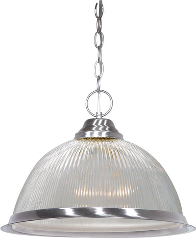 "Nuvo Lighting SF76/446 1 Light 15"" Pendant Clear Prismatic Dome"