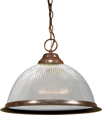 "Nuvo Lighting SF76/447 1 Light 15"" Pendant Clear Prismatic Dome"