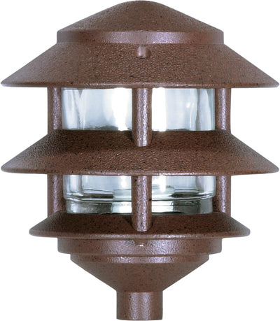 Nuvo Lighting SF76/632 Pagoda Garden Fixture Small Hood 1 light 2 Louver Old Bronze Finish