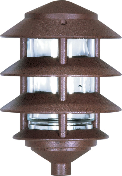 Nuvo Lighting SF76/633 Pagoda Garden Fixture Small Hood 1 light 3 Louver Old Bronze Finish