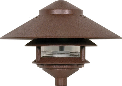 "Nuvo Lighting SF76/635 Pagoda Garden Fixture Large 10"" Hood 1 light 2 Louver Old Bronze Finish"
