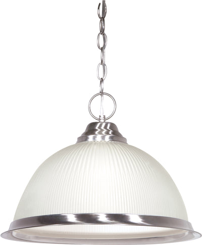 "Nuvo Lighting SF76/691 1 Light 15"" Pendant Frosted Prismatic Dome"