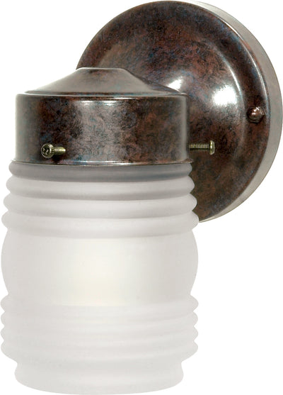 "Nuvo Lighting SF76/700 1 Light 6"" Porch Wall Mount Sconce Mason Jar with Frosted Glass"