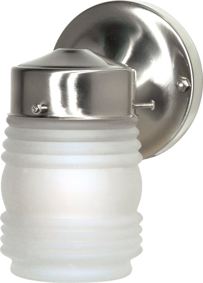 "Nuvo Lighting SF76/701 1 Light 6"" Porch Wall Mount Sconce Mason Jar with Frosted Glass"