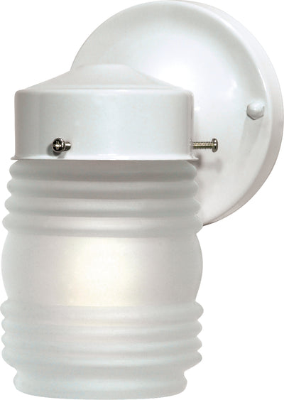 "Nuvo Lighting SF76/702 1 Light 6"" Porch Wall Mount Sconce Mason Jar with Frosted Glass"