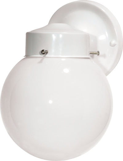"Nuvo Lighting SF76/704 1 Light 6"" Porch Wall Mount Sconce With White Globe"