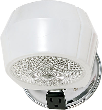 "Nuvo Lighting SF77/121B 1 Light 5"" Vanity with White Crystal Bottom Shade & Conv Outlet"