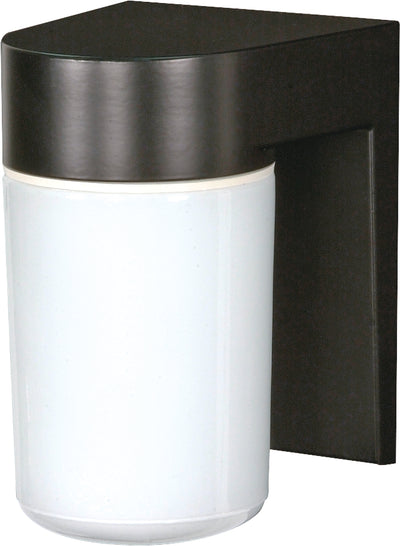 "Nuvo Lighting SF77/137 1 Light 8"" Utility Wall Mount Sconce Mount With White Glass Cylinder"