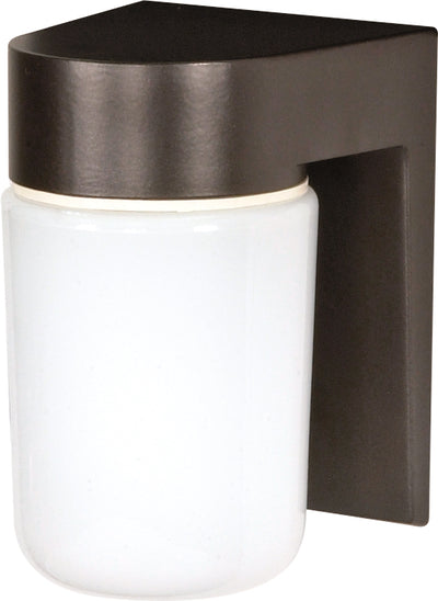 "Nuvo Lighting SF77/138 1 Light 8"" Utility Wall Mount Sconce Mount With White Glass Cylinder"