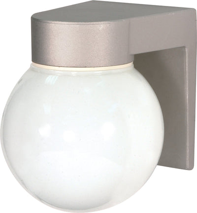 "Nuvo Lighting SF77/139 1 Light 8"" Utility Wall Mount Sconce Mount With White Glass Globe"