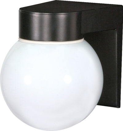 "Nuvo Lighting SF77/140 1 Light 8"" Utility Wall Mount Sconce Mount With White Glass Globe"