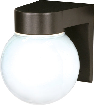 "Nuvo Lighting SF77/141 1 Light 8"" Utility Wall Mount Sconce Mount With White Glass Globe"