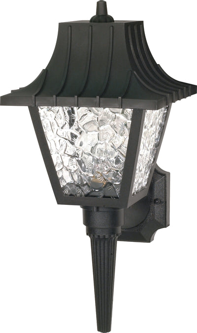 "Nuvo Lighting SF77/852 1 Light 18"" Wall Mount Sconce Lantern Mansard Lantern with Textured Acrylic Panels"