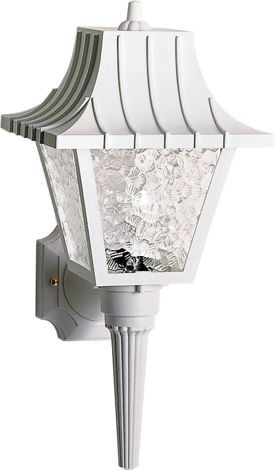 "Nuvo Lighting SF77/853 1 Light 18"" Wall Mount Sconce Lantern Mansard Lantern with Textured Acrylic Panels"