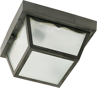 "Nuvo Lighting SF77/891 2 Light 10"" Carport Flush Mount With Frosted Glass Panels"
