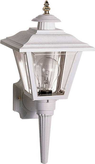 "Nuvo Lighting SF77/897 1 Light 17"" Wall Mount Sconce Lantern Coach Lantern with Brass Trimmed Acrylic Panels"
